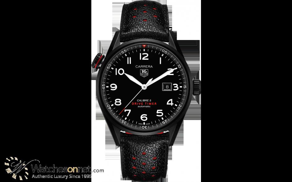 Tag Heuer Carrera  Automatic Men's Watch, Titanium, Black Dial, WAR2A80.FC6337