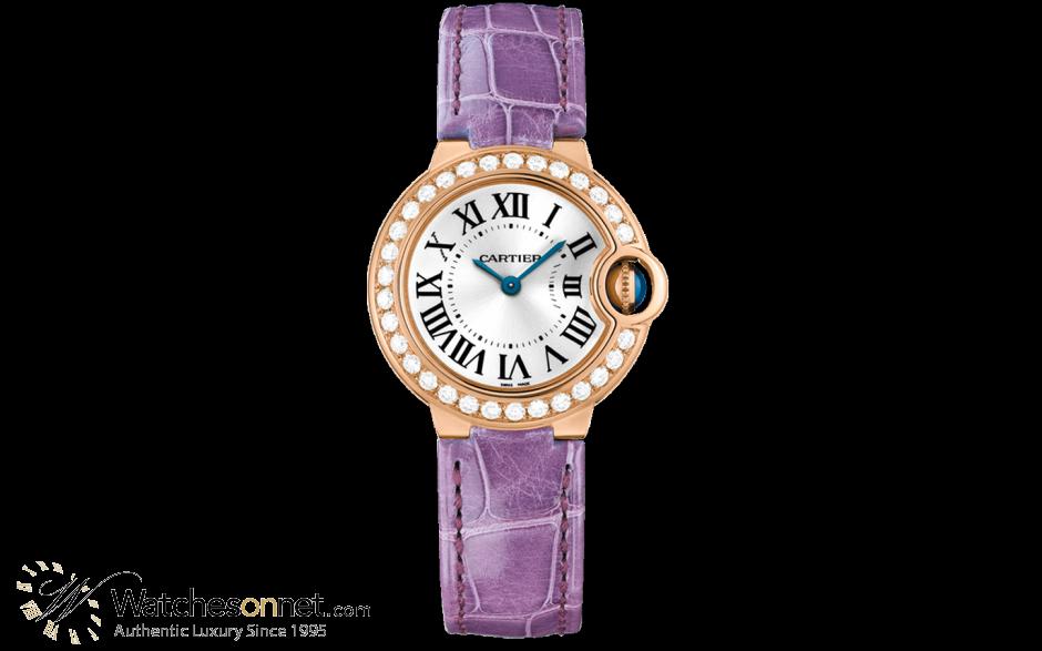 Cartier Ballon Bleu  Quartz Women's Watch, 18K Rose Gold, Silver Dial, WE900251