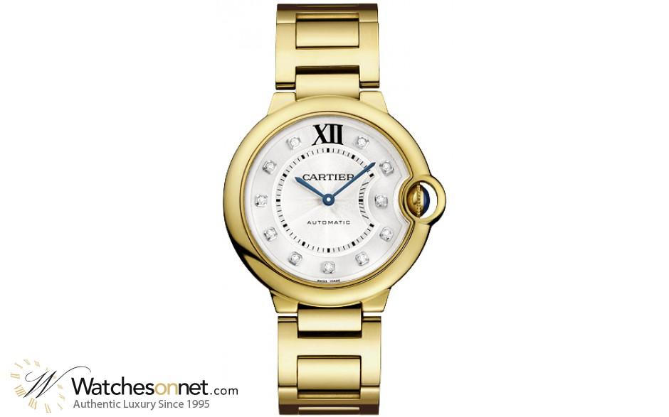 Cartier Ballon Bleu  Automatic Men's Watch, 18K Yellow Gold, Silver Dial, WE902027