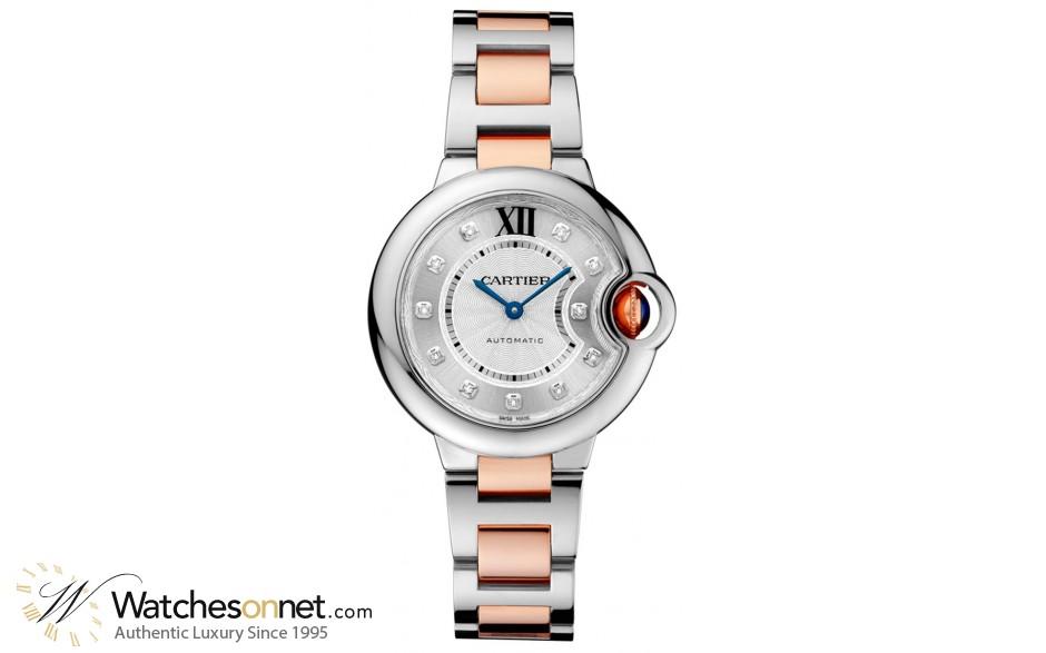 Cartier Ballon Bleu  Automatic Women's Watch, Stainless Steel, Silver Dial, WE902061