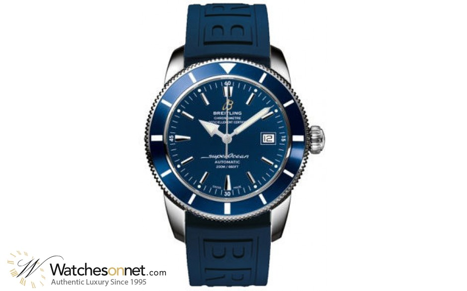 Breitling Superocean Heritage 42  Automatic Men's Watch, Stainless Steel, Blue Dial, A1732116.C832.158S