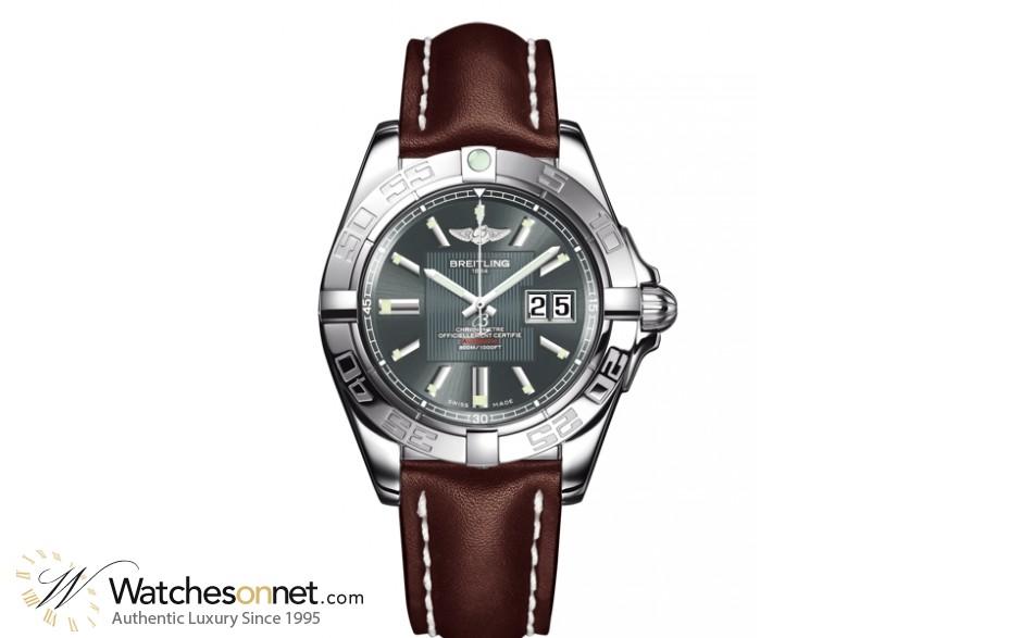 Breitling Galactic  Super-Quartz Men's Watch, Stainless Steel, Grey Dial, A49350L2.G699.725P