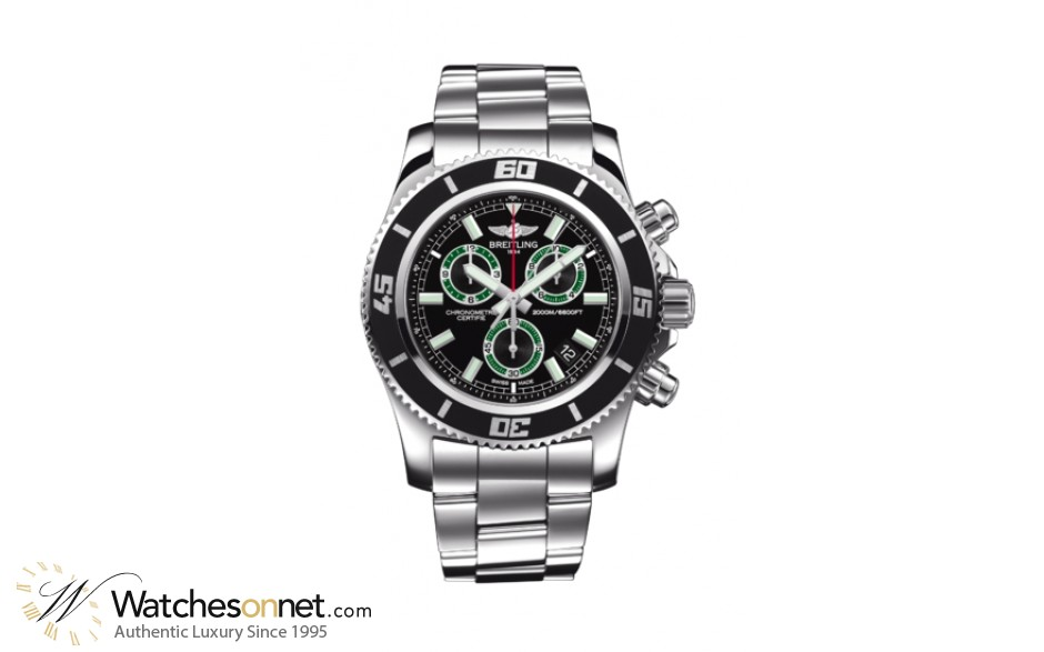 Breitling Superocean  Chronograph Quartz Men's Watch, Stainless Steel, Black Dial, A73310A8.BB75.160A