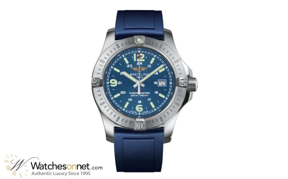 Breitling Colt  Super-Quartz Men's Watch, Stainless Steel, Blue Dial, A7438811.C907.145S