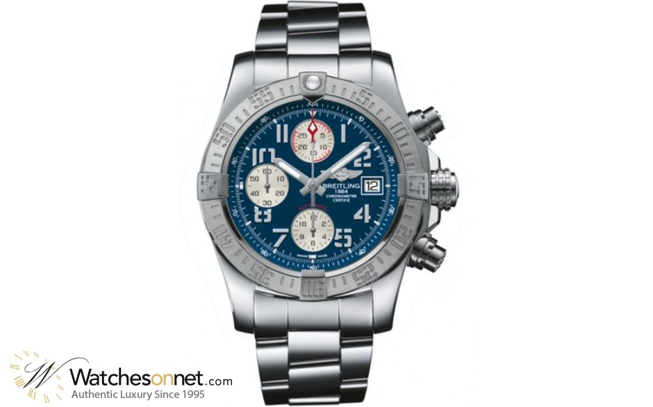 Breitling Avenger II  Chronograph Automatic Men's Watch, Stainless Steel, Blue Dial, A1338111.C870.170A