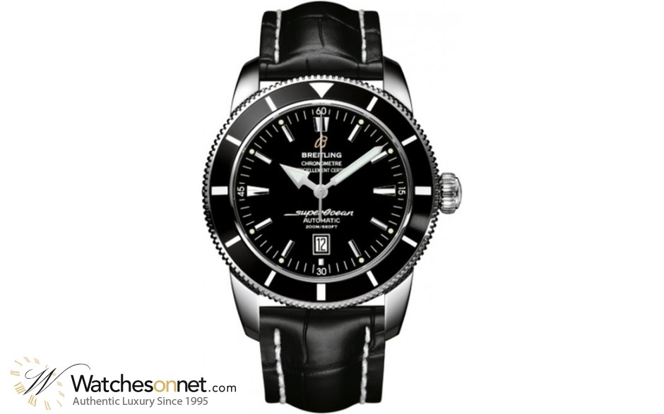 Breitling Superocean Heritage 46  Automatic Men's Watch, Stainless Steel, Black Dial, A1732024.B868.761P