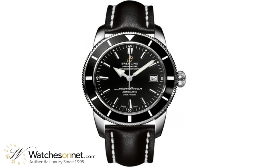 Breitling Superocean Heritage 42  Automatic Men's Watch, Stainless Steel, Black Dial, A1732124.BA61.435X