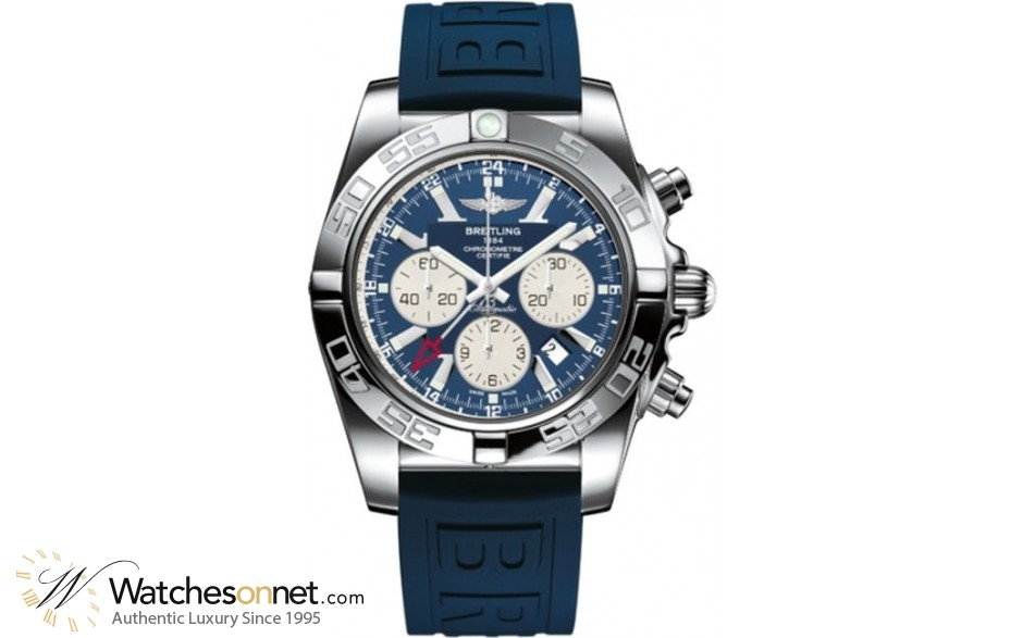Breitling Chronomat GMT  Chronograph Automatic Men's Watch, Stainless Steel, Blue Dial, AB041012.C834.159S