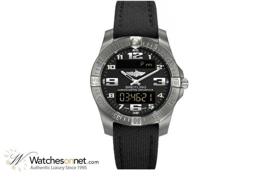 Breitling Aerospace Evo  Quartz Men's Watch, Titanium, Black Dial, E7936310.BC27.103W