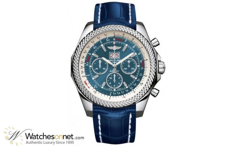 Breitling Bentley 6.75  Chronograph Automatic Men's Watch, Stainless Steel, Blue Dial, A4436412.C786.747P