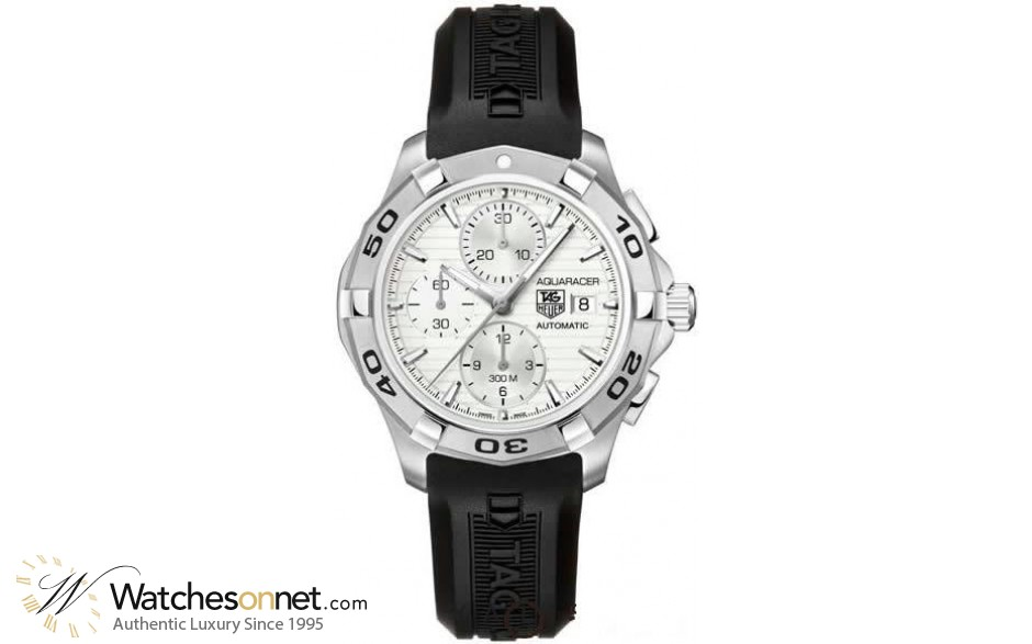 Tag Heuer Aquaracer  Chronograph Automatic Men's Watch, Stainless Steel, Silver Dial, CAP2111.FT6028