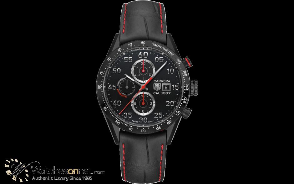 Tag Heuer Carrera  Chronograph Automatic Men's Watch, Titanium, Black Dial, CAR2A80.FC6237
