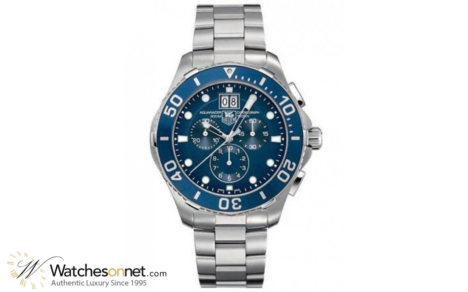 Tag Heuer Aquaracer  Chronograph Quartz Men's Watch, Stainless Steel, Blue Dial, CAN1011.BA0821