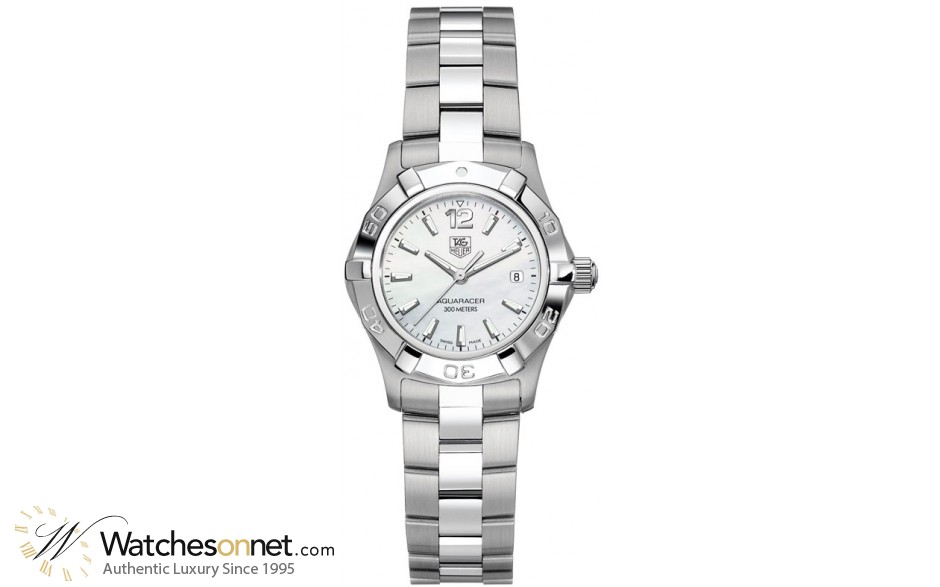 Tag Heuer Aquaracer  Quartz Women's Watch, Stainless Steel, Mother Of Pearl Dial, WAF1414.BA0812