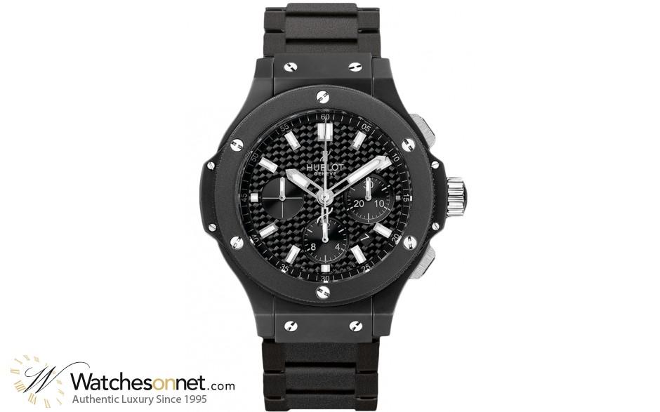 Hublot Big Bang Black Magic  Chronograph Automatic Men's Watch, Ceramic, Black Carbon Fiber Dial, 301.CI.1770.CI