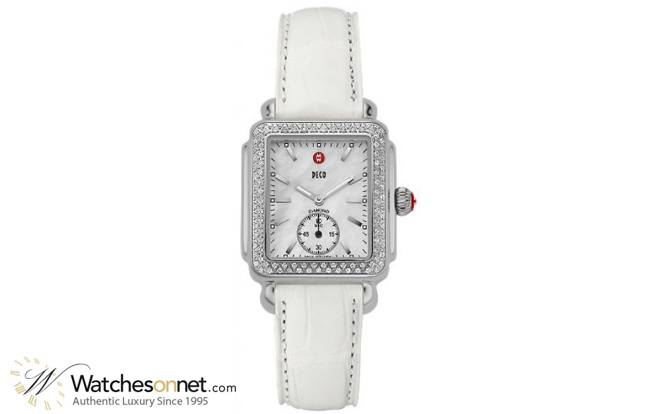 Michele Deco 16  Quartz Women's Watch, Stainless Steel, Mother Of Pearl Dial, MWW06V000006