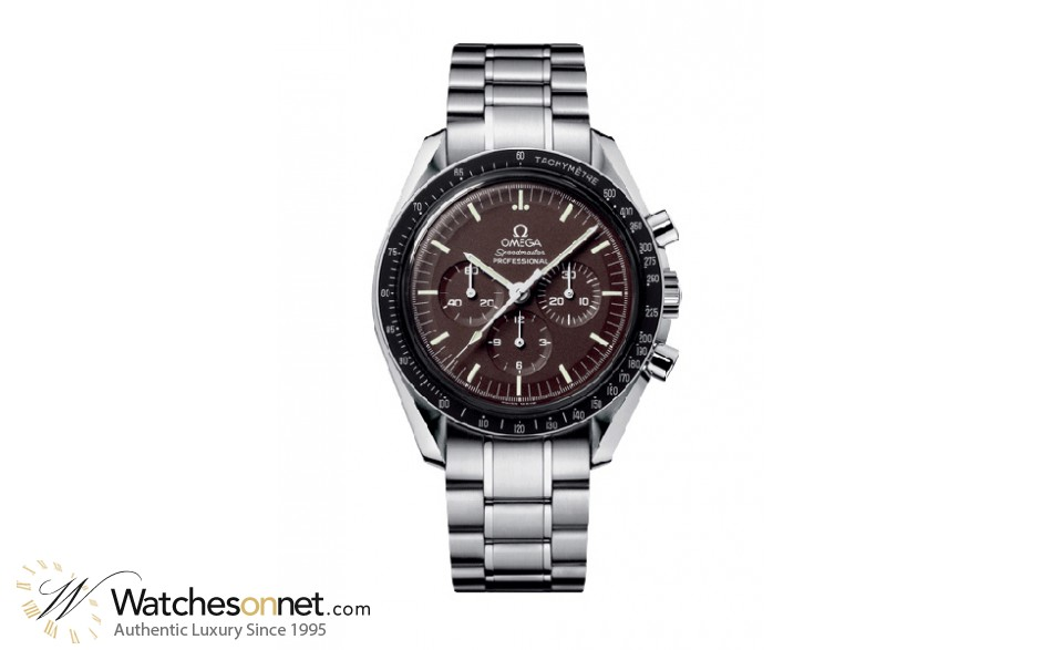 Omega Speedmaster  Chronograph Manual Men's Watch, Stainless Steel, Brown Dial, 311.30.42.30.13.001