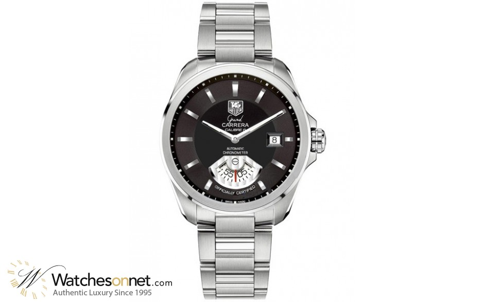 Tag Heuer Grand Carrera  Automatic Men's Watch, Stainless Steel, Black Dial, WAV511A.BA0900