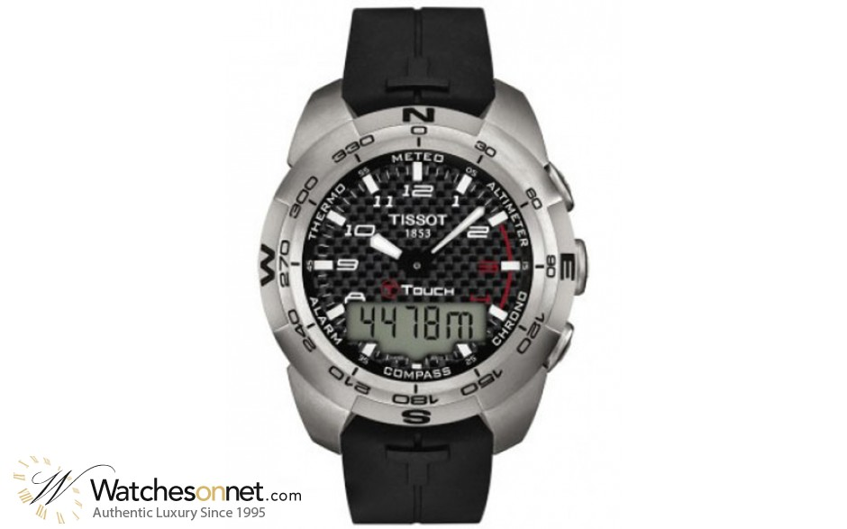 Tissot T-Touch Expert  Chronograph LCD Display Quartz Men's Watch, Stainless Steel, Black Dial, t013.420.47.202.00