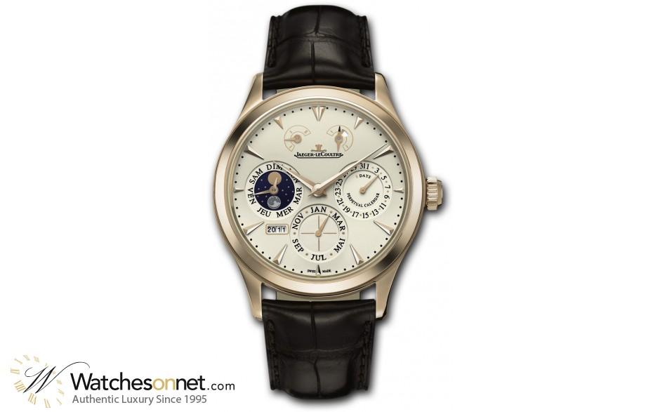 Jaeger Lecoultre Master  Manual Winding Men's Watch, 18K Rose Gold, Beige Dial, 1612420