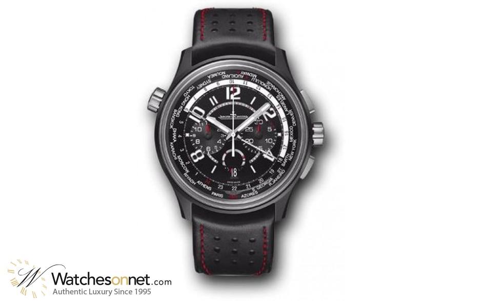 Jaeger Lecoultre Amvox  Chronograph Automatic Men's Watch, Titanium Ceramic, Black Dial, 193A470