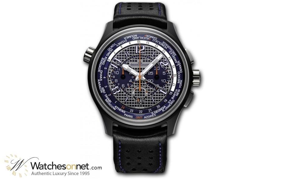 Jaeger Lecoultre Amvox  Chronograph Automatic Men's Watch, Titanium Ceramic, Black Dial, 193J480