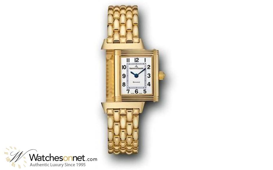 Jaeger Lecoultre Reverso Lady  Quartz Women's Watch, 18K Yellow Gold, Silver Dial, 2611110