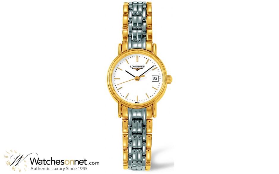 Longines La Grande Classique  Quartz Women's Watch, Steel & 18K Gold Plated, White Dial, L4.220.2.12.7