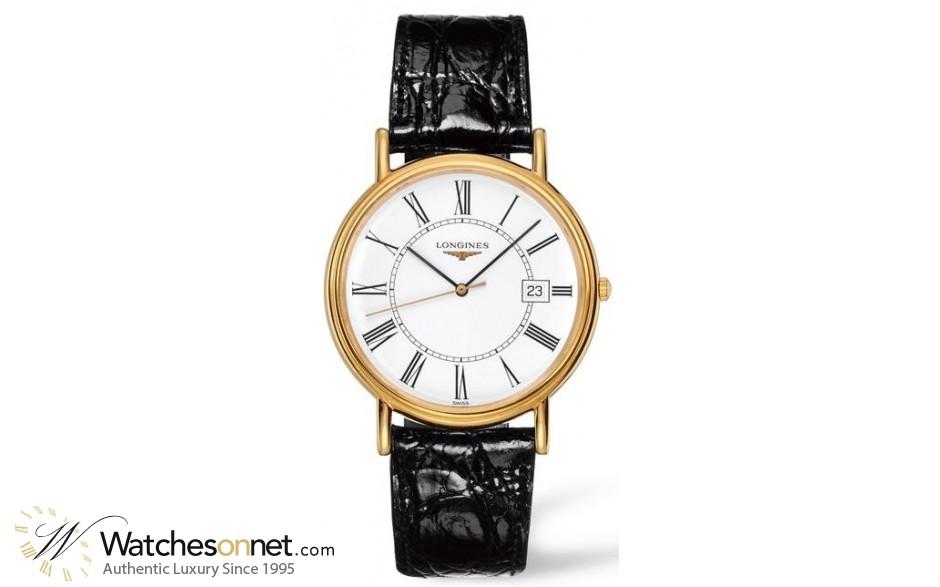 Longines La Grande  Quartz Men's Watch, 18K Yellow Gold, White Dial, L4.790.2.11.2
