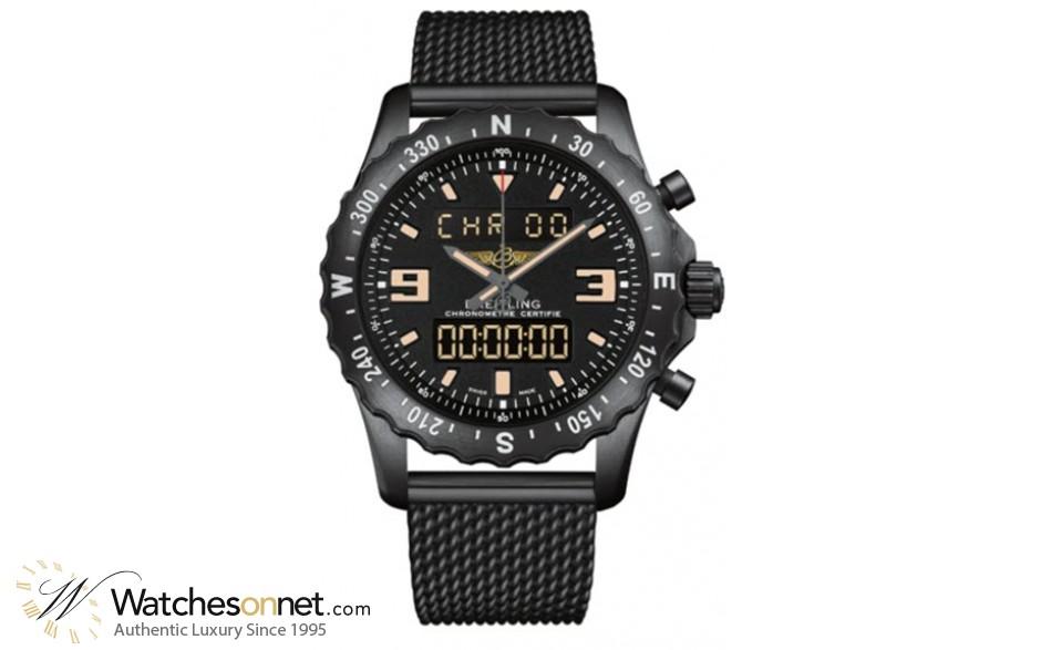 Breitling Chronospace  Automatic Men's Watch, Titanium, Black Dial, M7836622.BD39.159M