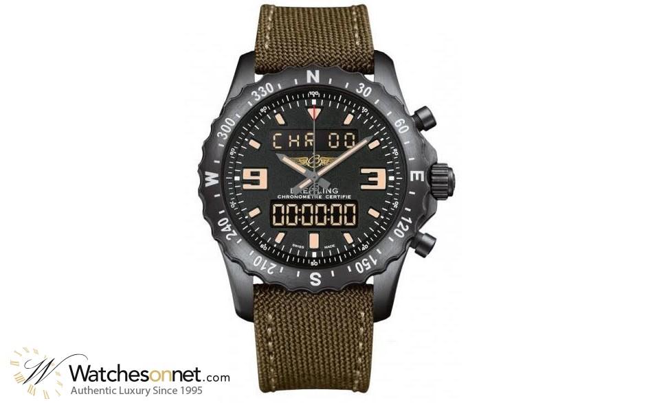 Breitling Chronospace  Automatic Men's Watch, Titanium, Black Dial, M7836622.BD39.105W