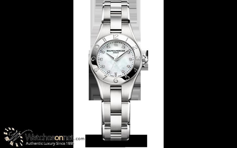 Baume & Mercier Linea  Quartz Women's Watch, Stainless Steel, Mother Of Pearl Dial, MOA10011