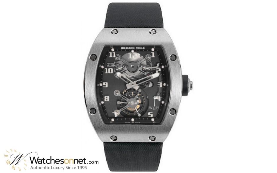 Richard Mille RM 002  Mechanical Unisex Watch, 18K White Gold, Black Dial, RM002-V2-WG