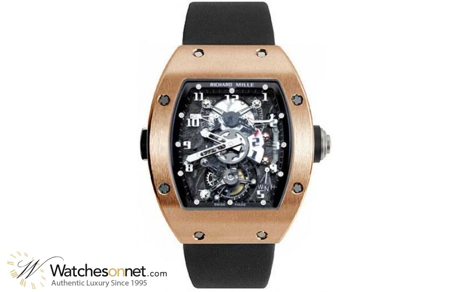 Richard Mille RM 003  Chronograph Mechanical Unisex Watch, 18K Rose Gold, Skeleton Dial, RM003-V2-RG