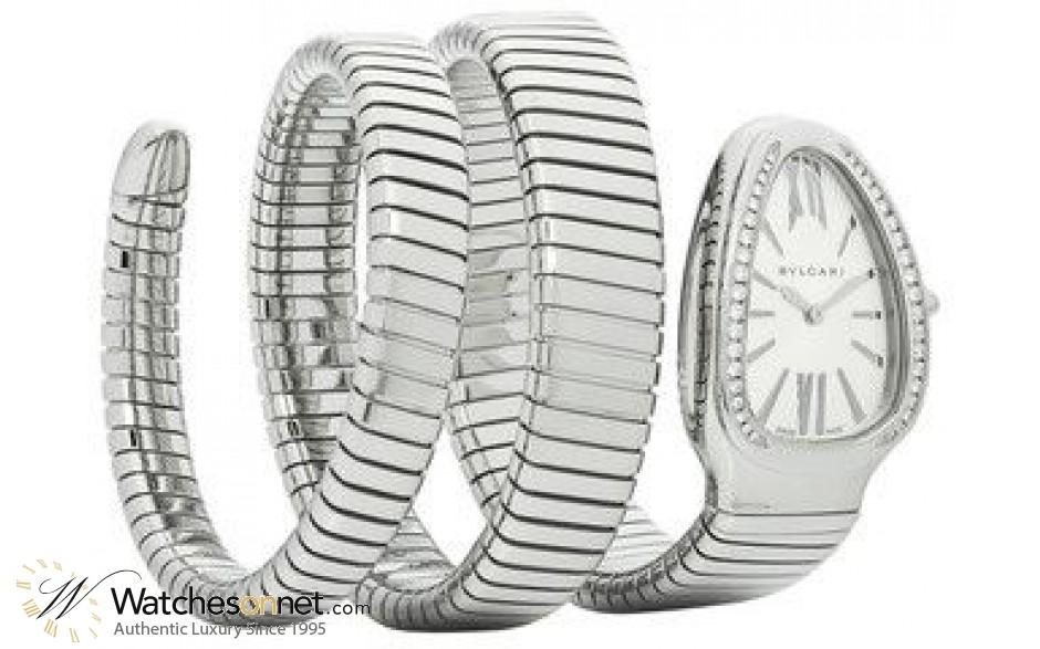 Bvlgari Bvlgari Bvlgari  Automatic Women's Watch, 18K Rose Gold, White Dial, SP35C6SDS.2T