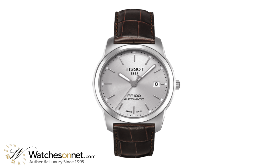 Tissot PR100  Automatic Men's Watch, Stainless Steel, Silver Dial, T049.407.16.031.00
