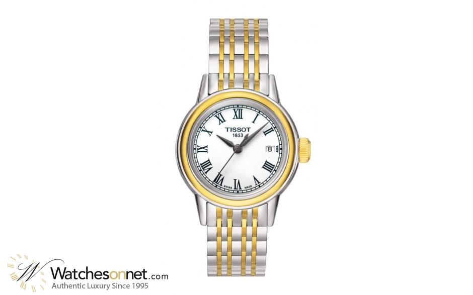 Tissot Carson Lady  Quartz Women's Watch, Steel & Gold Tone, White Dial, T085.210.22.013.00