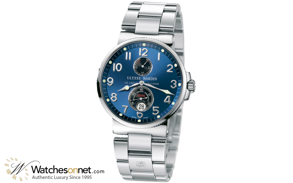 Ulysse Nardin Marine Chronometer  Automatic Men's Watch, Stainless Steel, Blue Dial, 263-66-7/623
