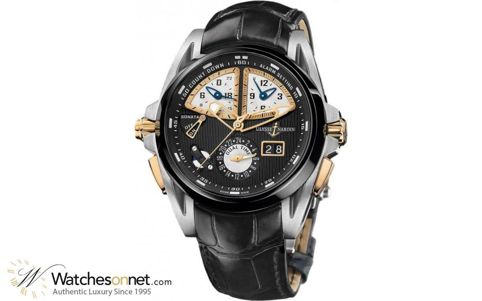 Ulysse Nardin Nifty / Functional  Automatic Men's Watch, Titanium, Black Dial, 675-00