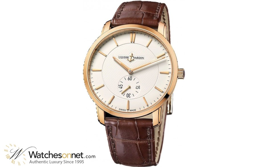 Ulysse Nardin Classical  Automatic Men's Watch, 18K Rose Gold, Ivory Dial, 8206-168-2/31