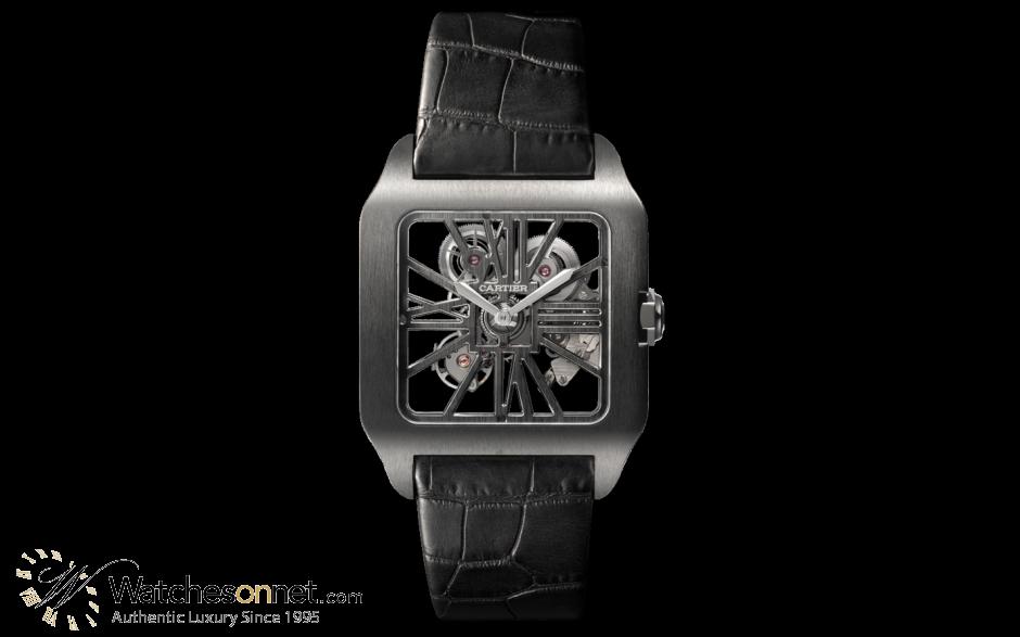 Cartier Ronde Solo  Automatic Men's Watch, Titanium, Skeleton Dial, W2020052