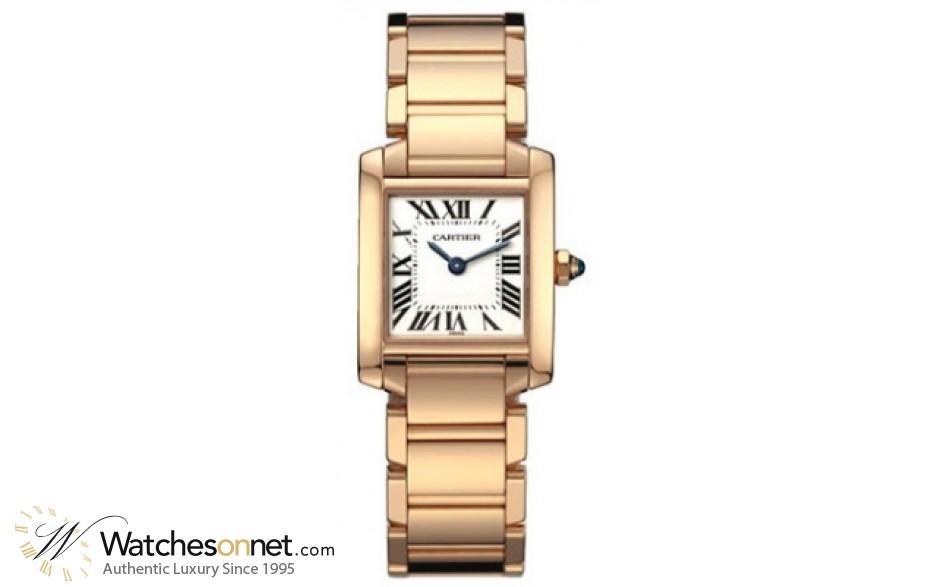 Cartier Tank Francaise  Quartz Women's Watch, 18K Rose Gold, White Dial, W500264H