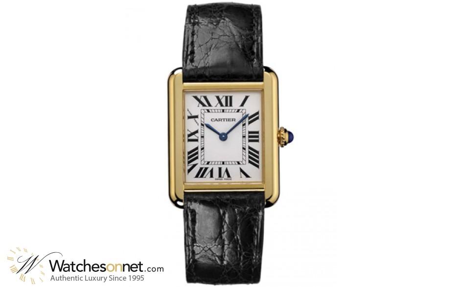Cartier Tank Solo  Quartz Men's Watch, Stainless Steel, White Dial, W5200004