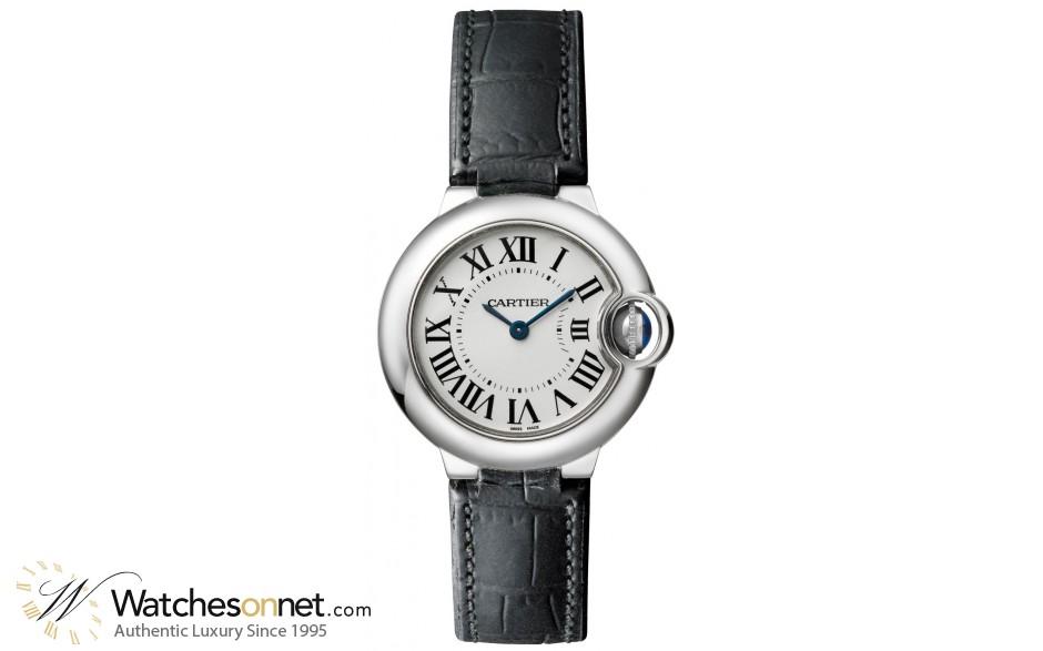 Cartier Ballon Bleu  Quartz Women's Watch, Stainless Steel, Silver Dial, W69018Z4
