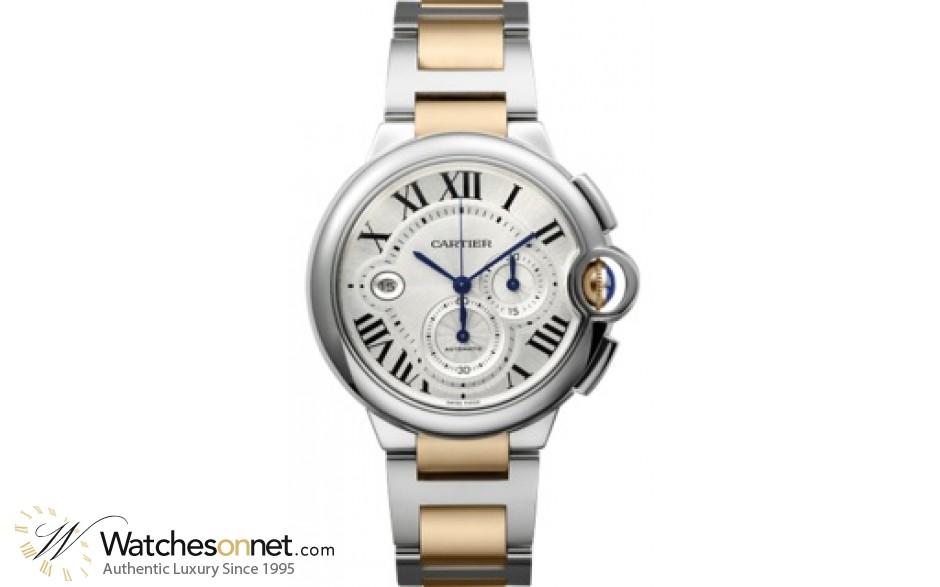 Cartier Ballon Bleu  Chronograph Automatic Men's Watch, Stainless Steel, Silver Dial, W6920063