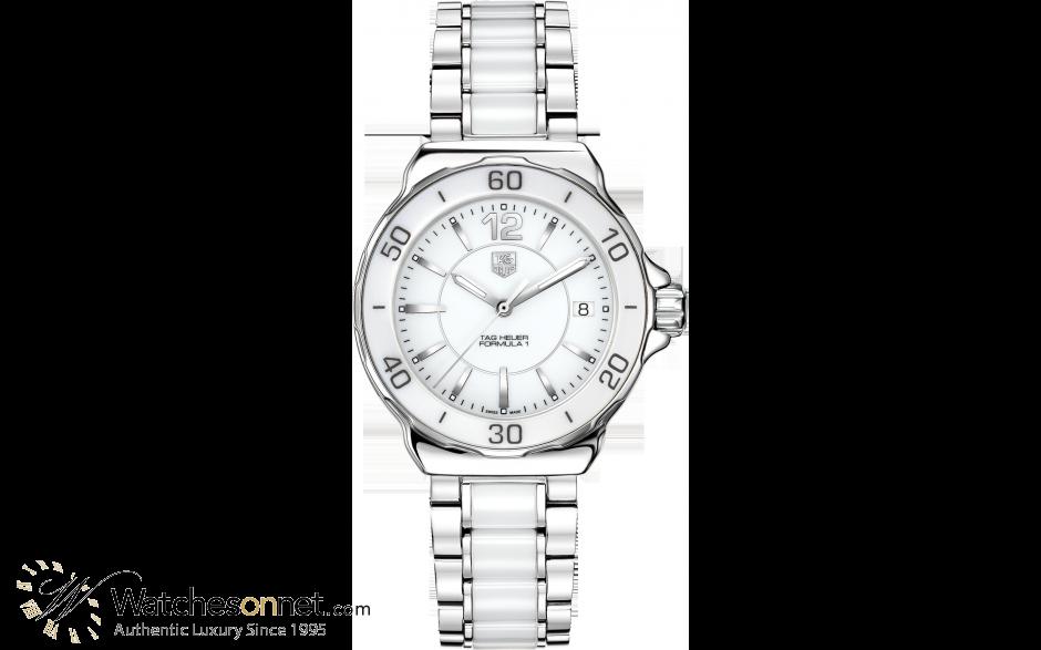 Tag Heuer Formula 1  Quartz Women's Watch, Stainless Steel, White Dial, WAH1211.BA0861