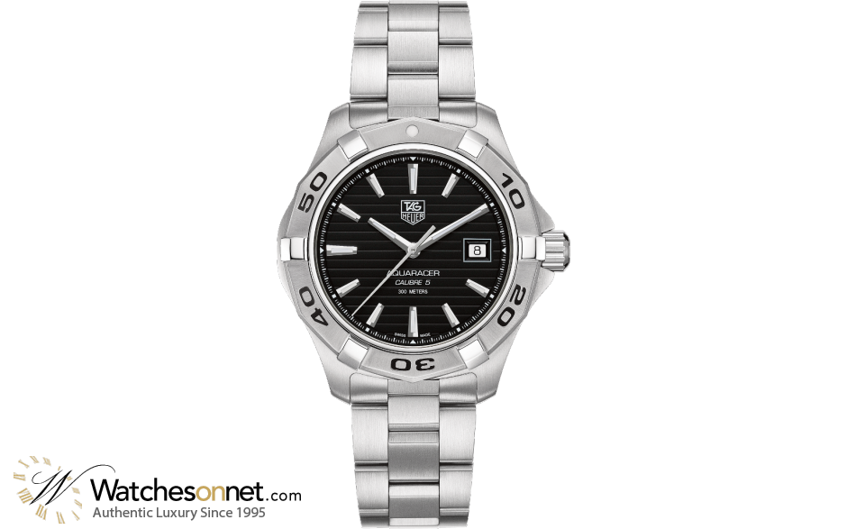 Tag Heuer Aquaracer  Automatic Men's Watch, Stainless Steel, Black Dial, WAP2010.BA0830
