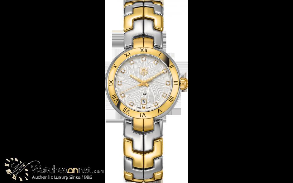 Tag Heuer Link  Quartz Women's Watch, 18K Yellow Gold, Silver Dial, WAT1450.BB0955