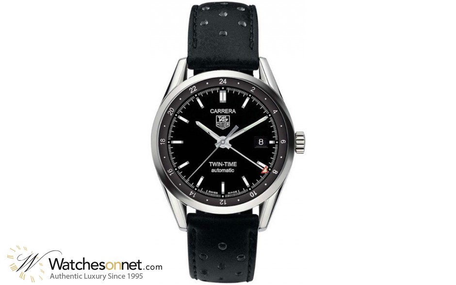 Tag Heuer Carrera  Automatic Men's Watch, Stainless Steel, Black Dial, WV2115.FC6182