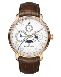 Blancpain Villeret  Automatic Men's Watch, 18K Rose Gold, White Dial, 0888-3631-55B